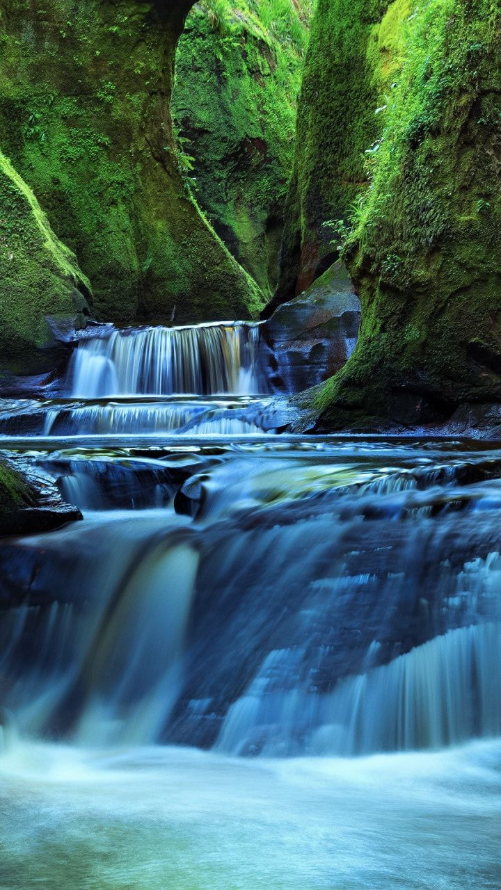 Flow Water Current Waterfall Forest Nature Rocks 720x1280 Wallpaper Beautiful Images Nature Nature Images Water Photography