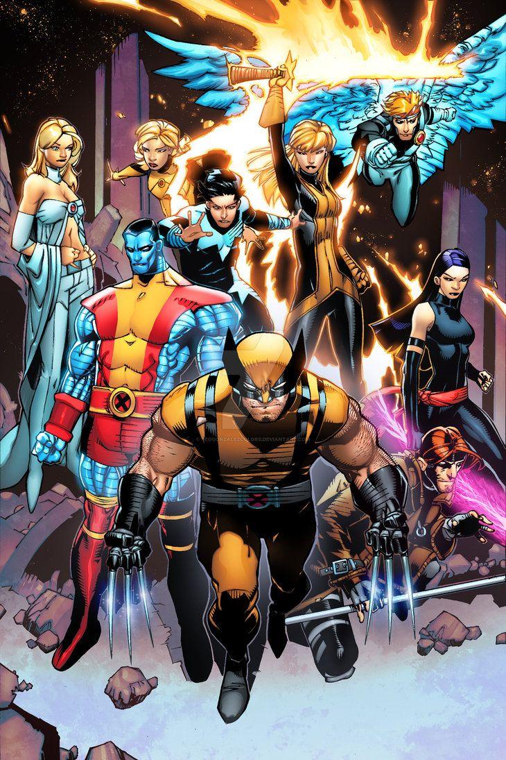 Xmen By Teogonzalezcolors On Deviantart Marvel Comic Character Marvel Superheroes Wolverine Old Man Logan