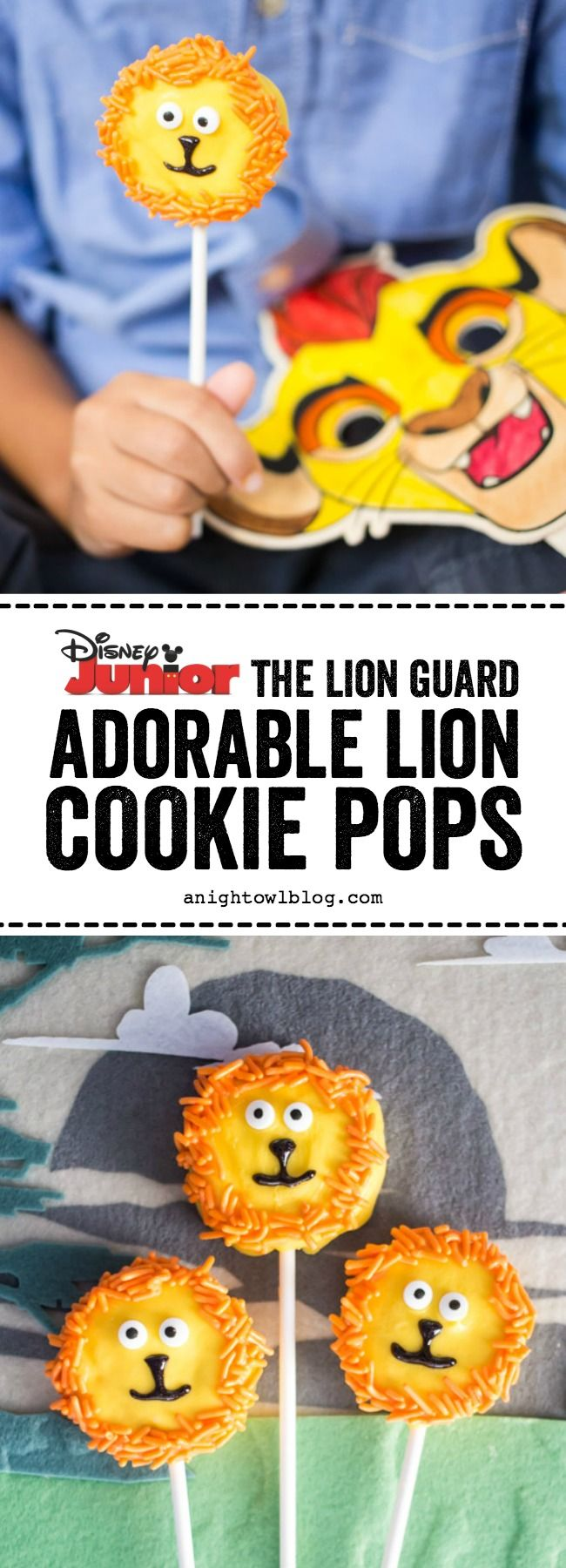 This summer put the YAY in your FRiYAY with The Lion Guard on Disney Junior Channel and these adorable Lion Cookie Pops for your kiddos! AD #DisneyJuniorFRiYAY