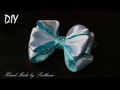 Бантики из лент  КАНЗАШИ DIY Bows made of ribbon Kanzashi Laço de Cetim Curva da fita 11 - YouTube