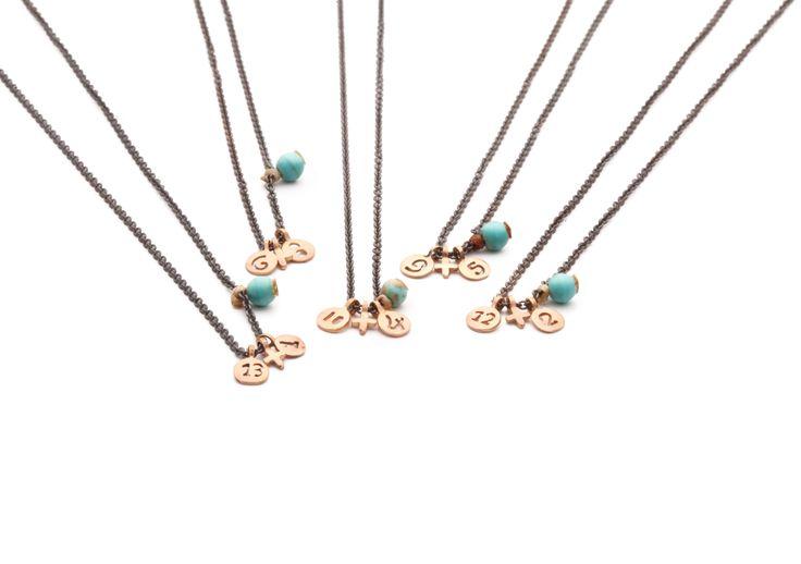 new years charm 2014 necklace bracelet  gold cords www.apriati.com/shop