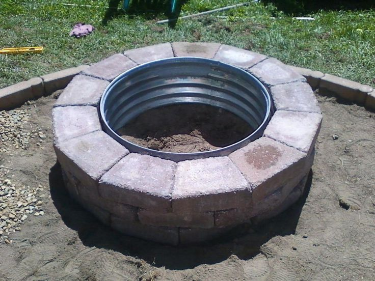 25 best ideas about fire pit ring on pinterest fire for Brick fire pit construction