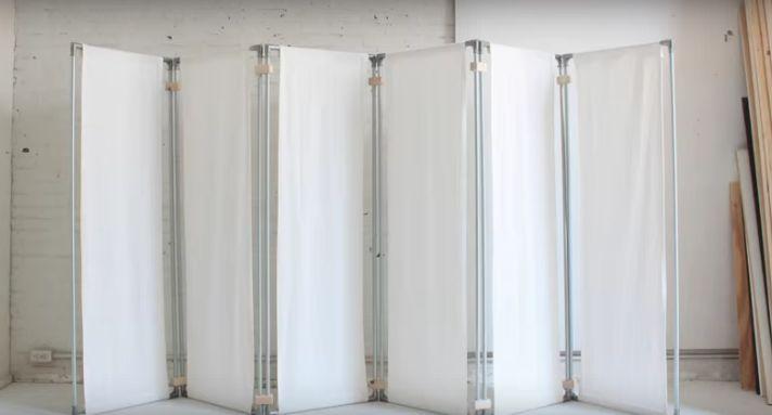1000 ideas sobre biombos de tela en pinterest divisor for Como hacer una cortina para exterior