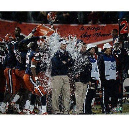 Doug Marrone Syracuse University Official 2010 Pinstripe Bowl Poster with Go Orange Inscription