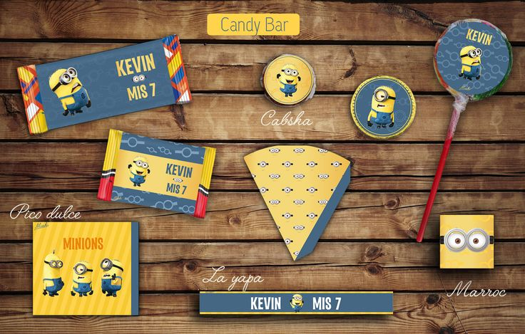 #Kit #Cumple #Candy #Bar #minions #Etiquetas para golosinas. #tita #rhodesia #layapa #turron #picodulce #paleta #marroc #imprimible #fiesta #cumple  #infantil