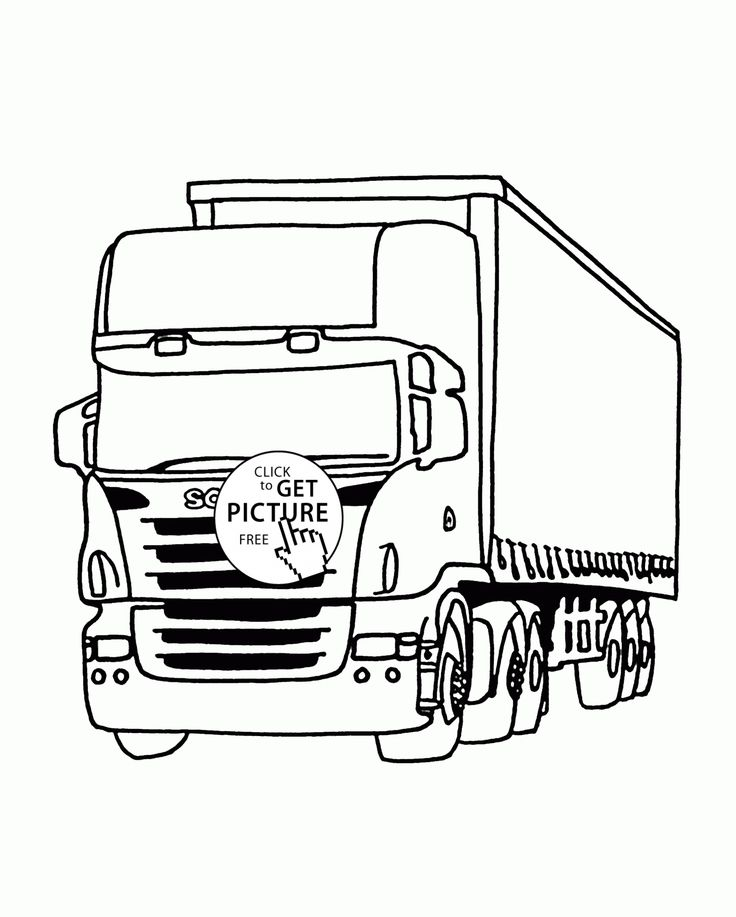 camion truck coloring page for kids  transportation