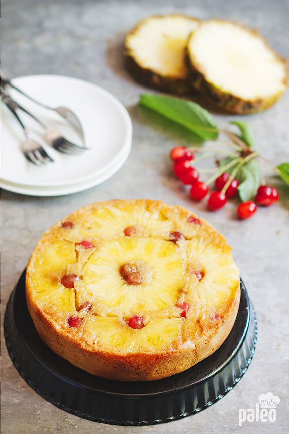 Paleo Pineapple Upside Down Cake #PaleoGrubs​