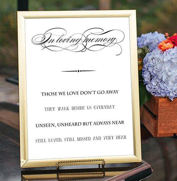 SALE 60% In loving memory sign printable by PrintableMemoriesCo