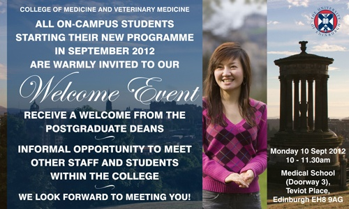 Join us at 10am on Monday 10 September for our College Welcome Event!