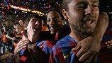 Lionel Messi celebra su segundo título de la Liga en 2006, un año en el que también se convertiría en campeón de Europa