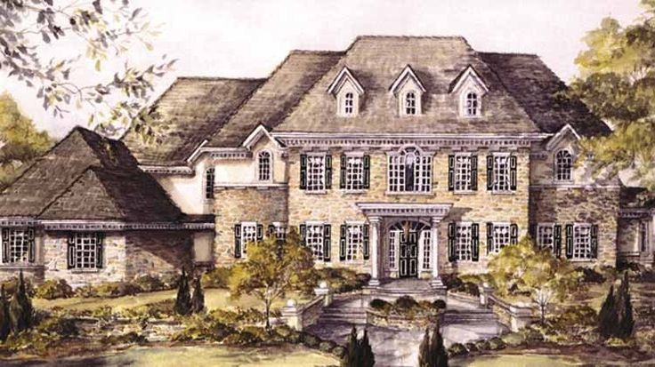 Georgian House Plan With 6428 Square Feet And 4 Bedrooms