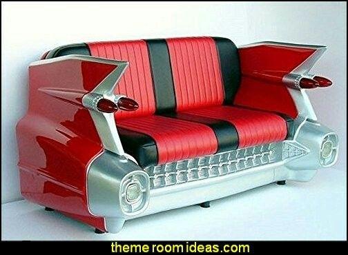 1959 Cadillac sofá del coche retro Sofá Sofá Asiento - Rojo