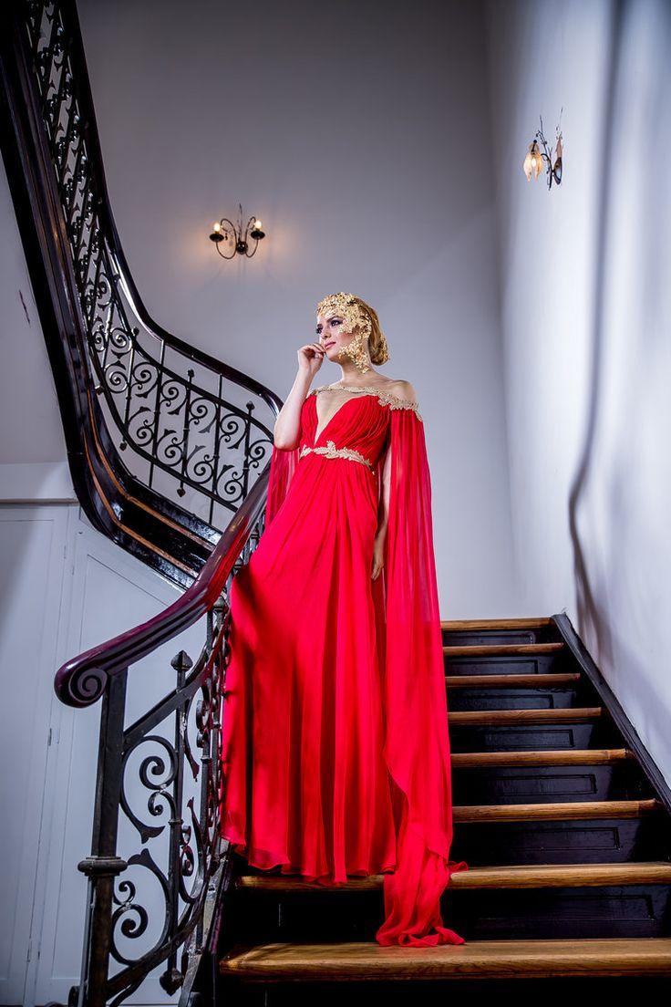 Goddess Evening Gown Design   Golden Shades Collection