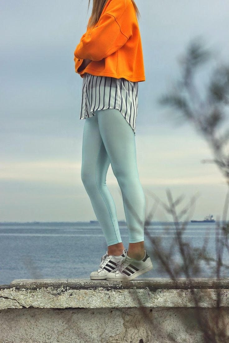 Christina wearing the baby blue PCP leggings #pcpclothing #pcpleggings #pcpinia