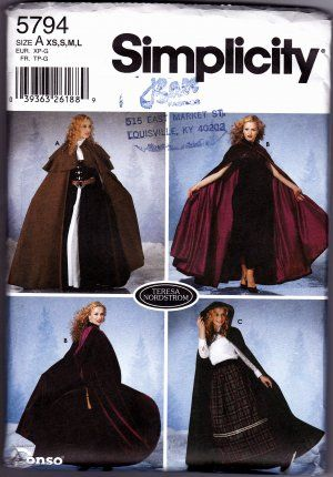 Simplicity #5794 Sewing Pattern