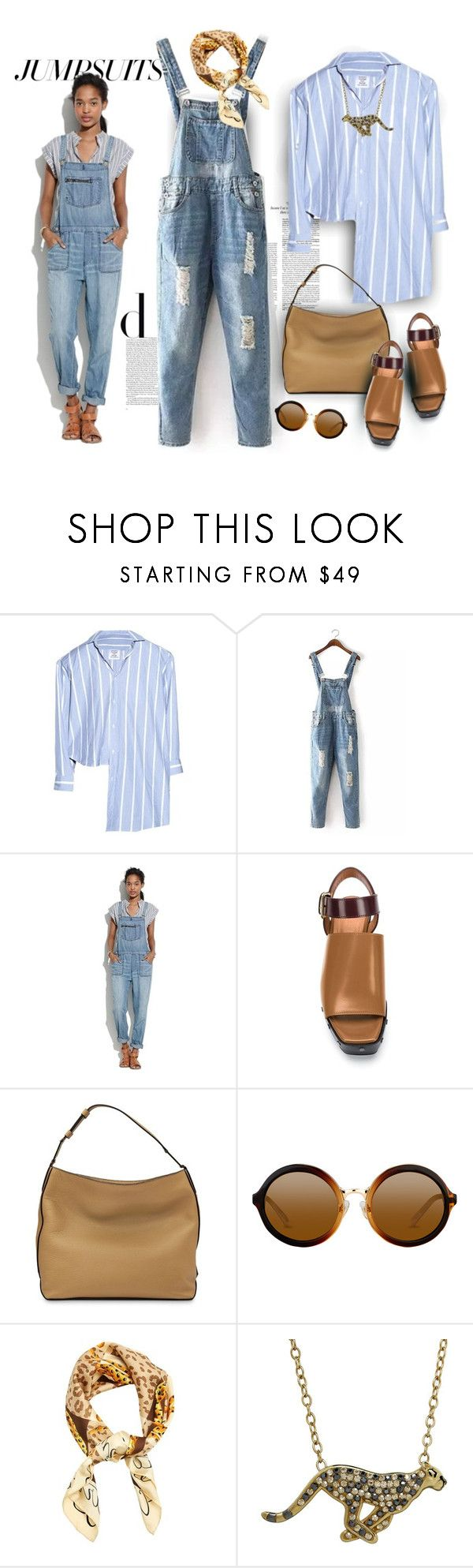 """One and Done: Jumpsuits"" by ysmn-pan ❤ liked on Polyvore featuring Vetements, Madewell, Marni, Lancel, Cartier, Animal Planet, contest and jumpsuits"