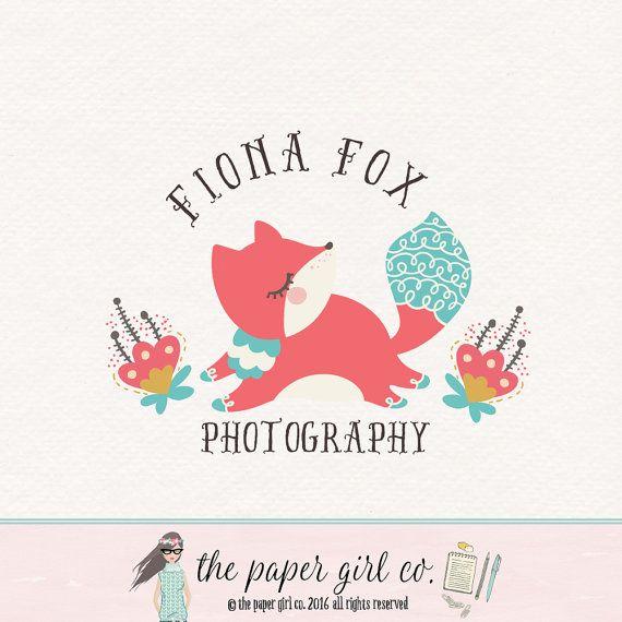 fox logo woodland logo photography logo premade by ThePaperGirlCo