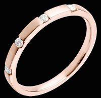 Fede Nuziale oro rosa con diamanti