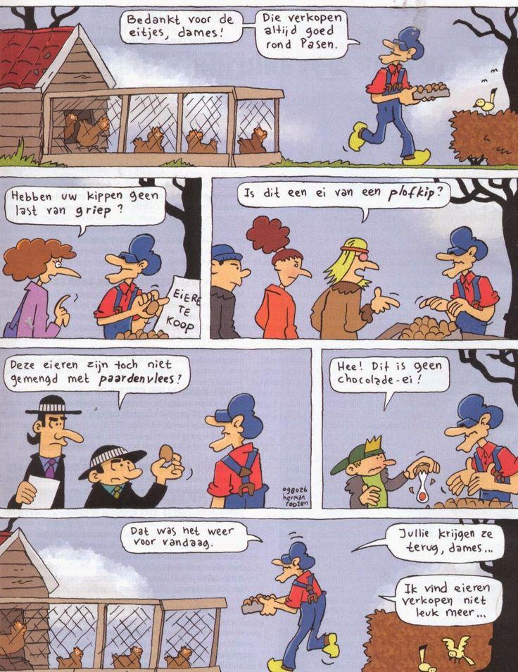 Strip Opa. Thema : Pasen & http://www.bloggen.be/boerinzondernaam/archief.php?catID=23619