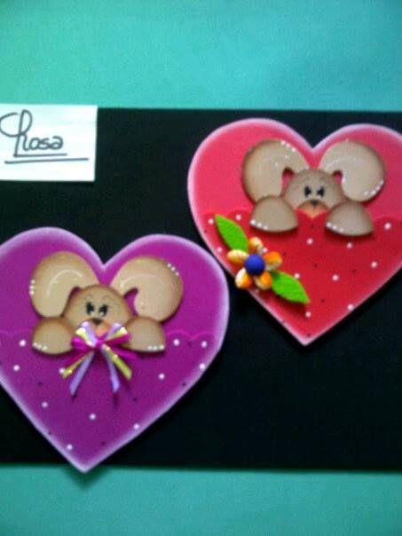 Detalles san valentin creaciones rosa campos mis trabajos en foami trapillo crochet - Manualidades para hacer en san valentin ...