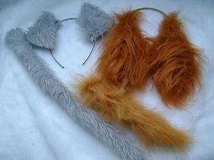 Lady-And-The-Tramp-Ears-And-Tail-Set-Faux-Fur-Fancy-Dress-Costume-Unique