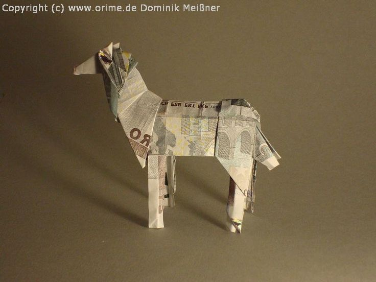 Origami Geld Pferd (Horse) | Flickr - Photo Sharing!