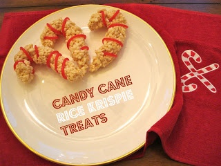 Candy Cane Rice Krispie Treats  teeniebaker.blogspot.ca
