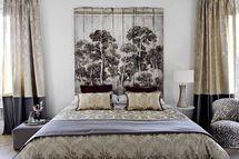 cabecero cama listones pintura decorativa - Foto © KA Internacional