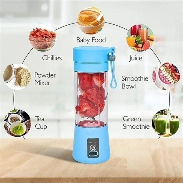380ml Sports Bottle Mini USB Rechargeable 2/4/6 blades Portable Electric  Fruit Juicer Smoothie Maker Blender Ma… | Electric juicer, Juicer, Mango  pineapple smoothie