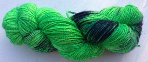 Monsterfied (Wala- 100% Aussie Wool light worsted) Purple and green
