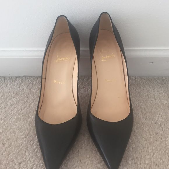 Christian Louboutin Pigalle pumps Black leather Christian Louboutin pumps. Pigalle. 100mm. Worn once. No box m. I bought in 2009 at Sacks. Never worn ever since. Christian Louboutin Shoes Heels