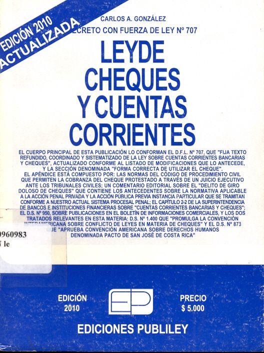 #leydechequesycuentascorrientes #carlosgonzález #publiley #chile #legislación #cuentas #escueladecomerciodesantiago #bibliotecaccs