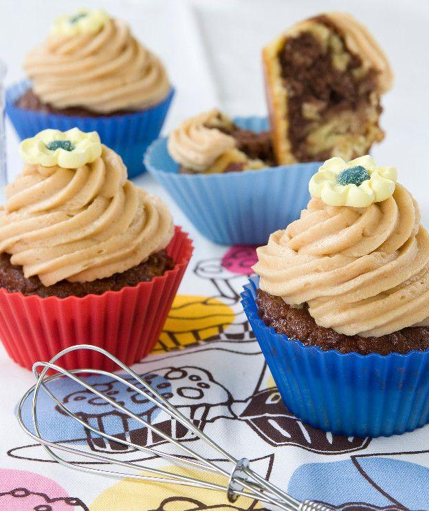Ασπρόμαυρα cupcakes