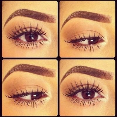 This eyebrow/eyelash combo is pure perfection. Very Kim Kardashian