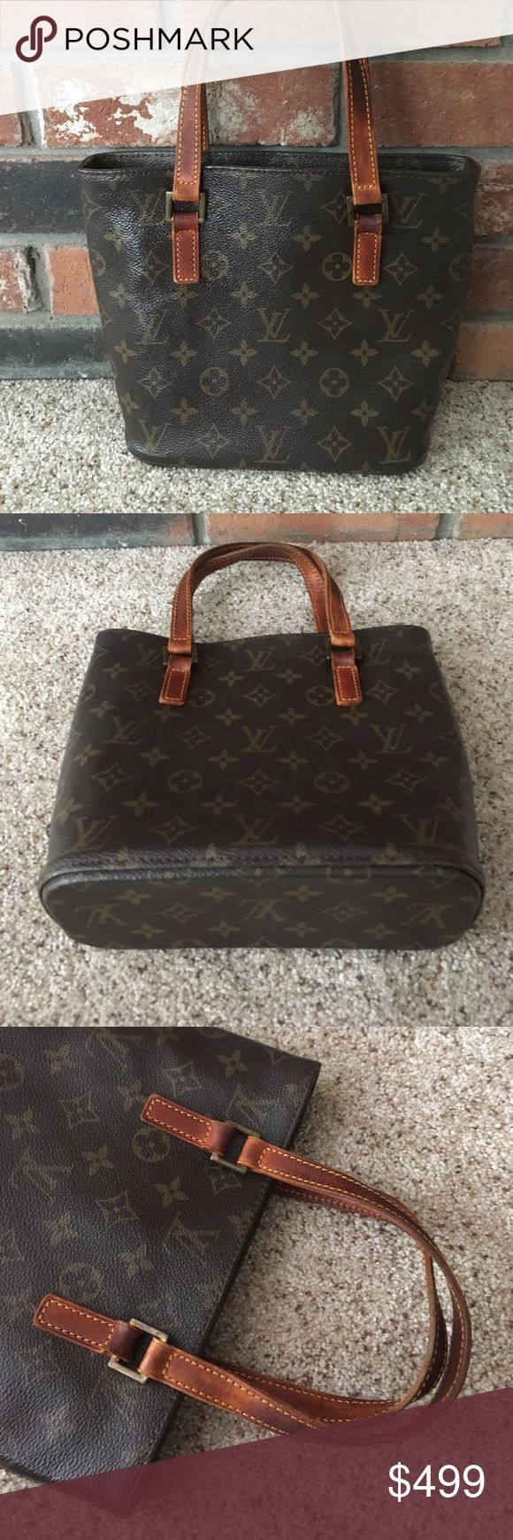 LV TOTE Beautiful Louis Vuitton signature monogram brown and tan with patina on the leather handles bag is in perfect condition no scuffs on corners interior is clean Louis Vuitton Bags Totes