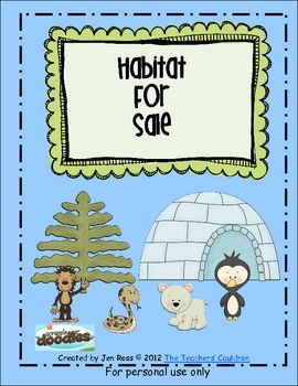 This mini-unit is great for reviewing habitats. It includes habitats from the rainforest, arctic, and more! Students read the clues on the cards to...