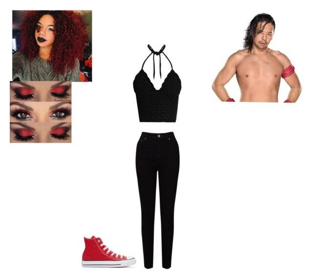 """""""💋 Ema De Lis 💋- Hanging Out With Shinsuke Nakamura"""" by amyblood ❤ liked on Polyvore featuring EAST, RED Valentino, Converse, WWE, OC, NXT and wweoc"""