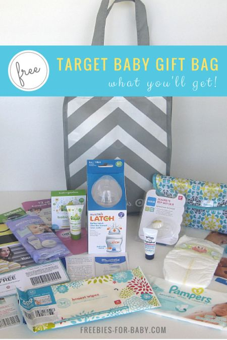 2015 Target Baby Registry Gift Bag Did you get your FREE Target Baby Welcome Gift yet? If not, I highly recommend you scoop one up - it has over $70 worth