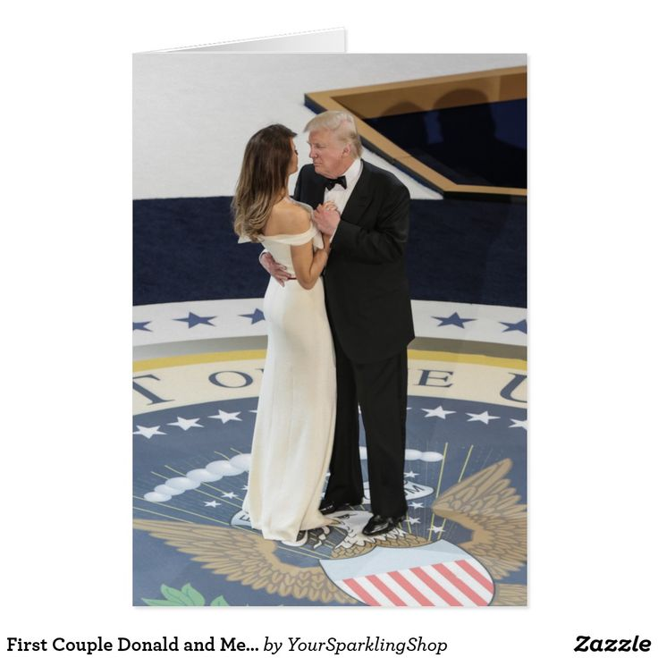 First Couple Donald and Melania Trump Dancing Ball Card #JustSold #ThankYou :)