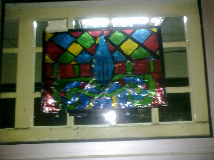 how to make fake stained glass windows