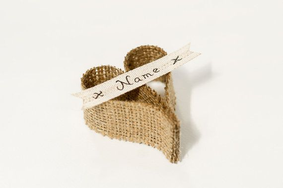 50 Wedding Place Names Rustic Burlap Hessian by Allinthedetail24