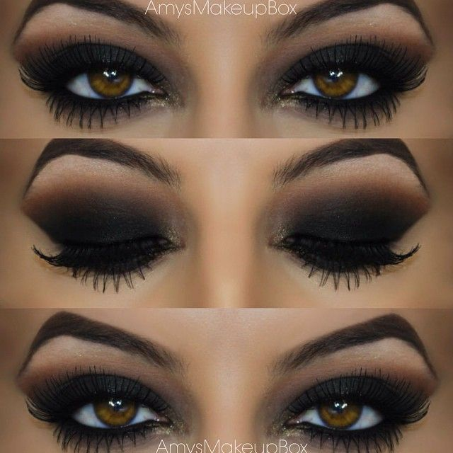 """Black smokes ◼️ to see how I created this look head over to my youtube page 'amys beauty box' the video is called 'seductive black smokey eye' !!! """