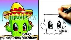 Fun2draw - YouTube i  think that this cactus is really ADORABLE i love it !!!!!!!!!!