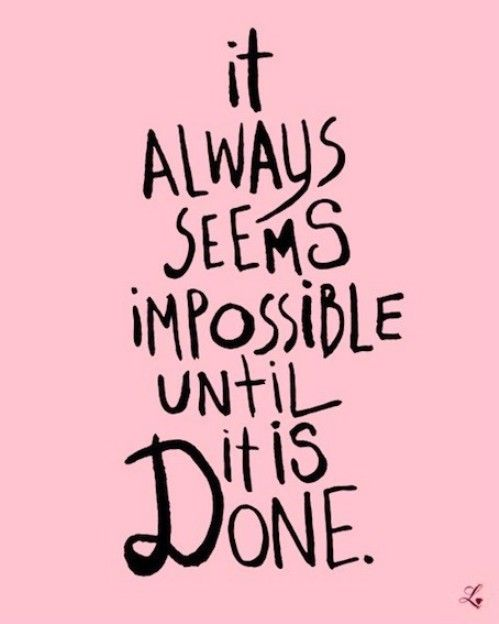 until it is done