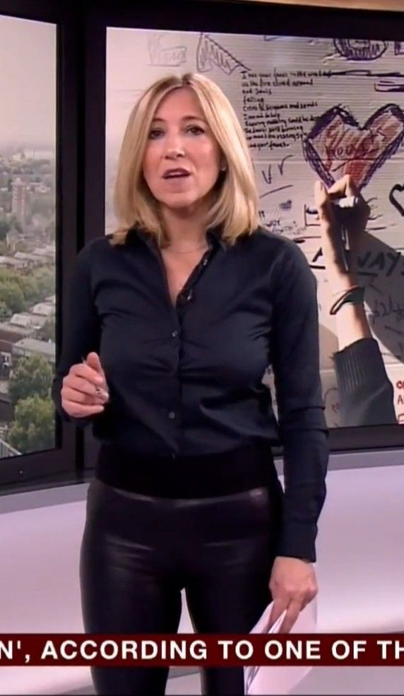 Joanna Gosling In Leather Trousers  Leather Shirt -3456