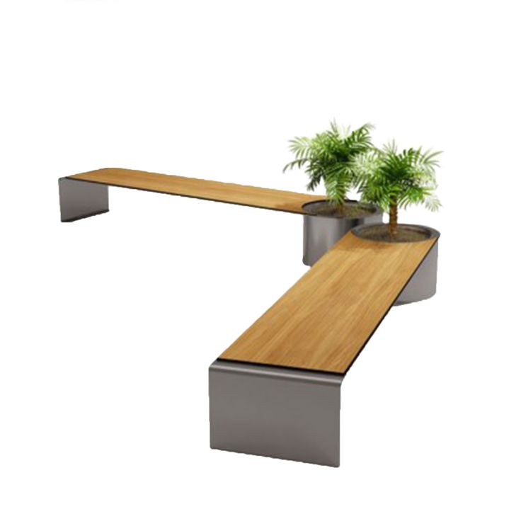 Benedict C3 bench #basiccollection #bench #steel #woodenseat #wooden #flowerpot #outdoor