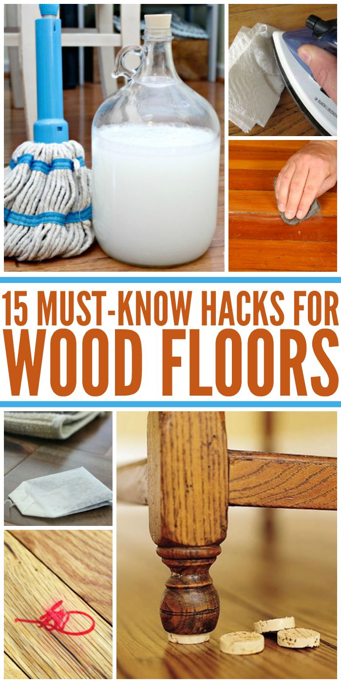 15 Wood Floor Hacks Every Homeowner Needs to Know | Life Hacks | Pinterest  | Cleaning Hacks, House cleaning tips and Cleaning