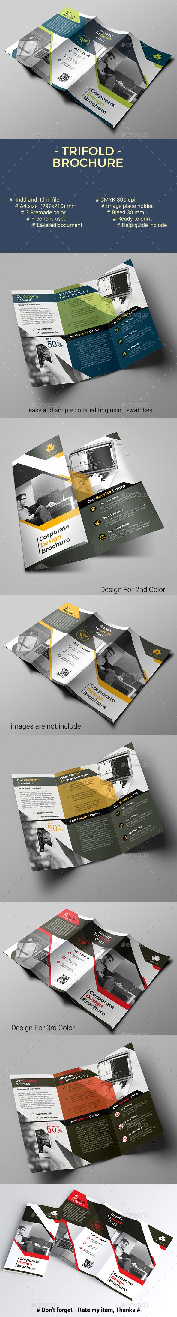Trifold Brochure #branding #agency  • Download here → https://graphicriver.net/item/trifold-brochure/21043265?ref=pxcr