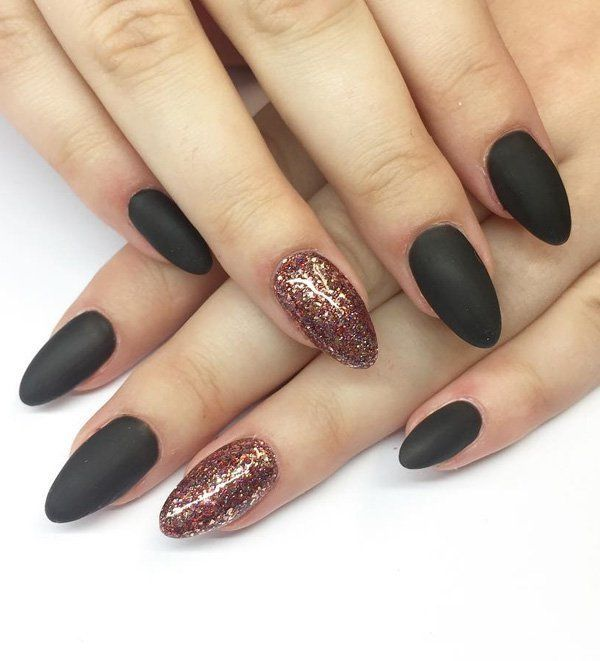 Top 66 Dark Nails For Winter 2019 Nail Colors Nail Color Trends