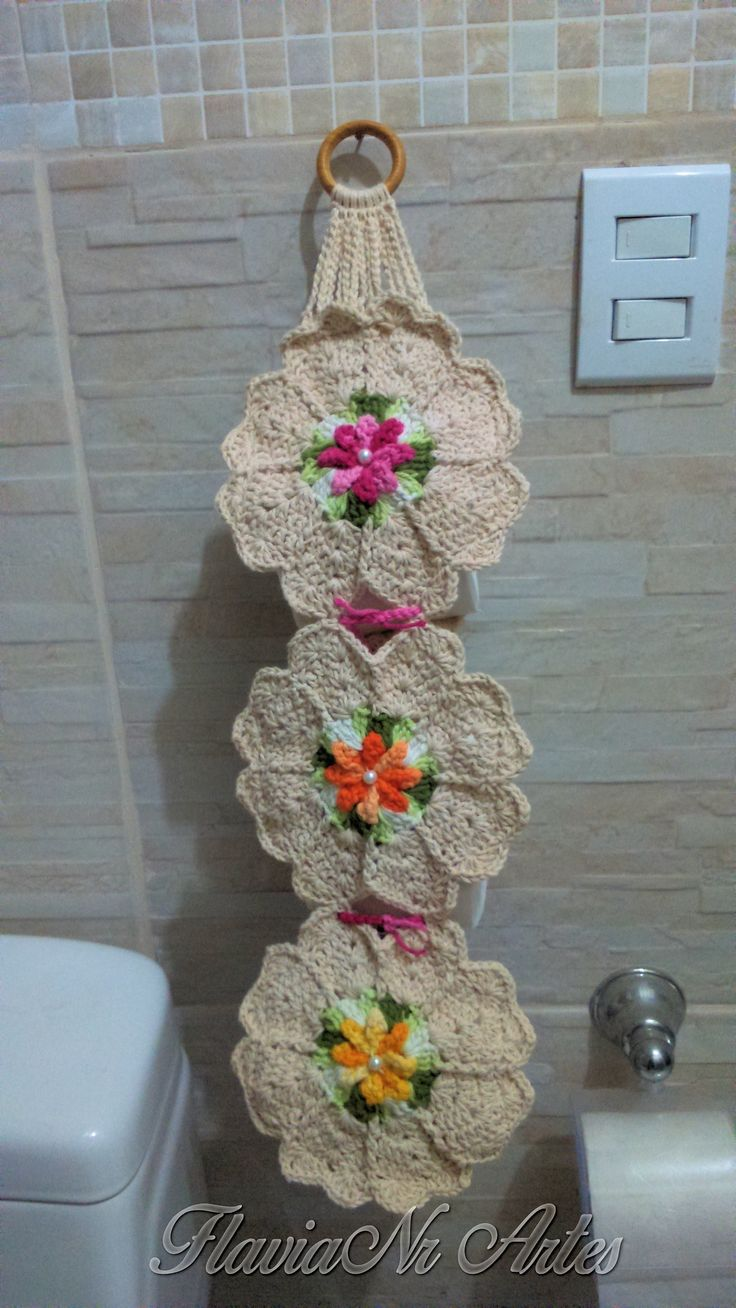 Porta papel higiênico Croche DIY